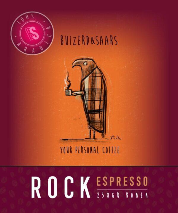 Rock Espresso gebrande koffiebonen 250g